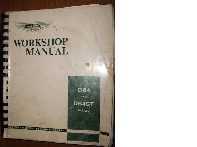 An Aston Martin DB4 DB4GT workshop manual,