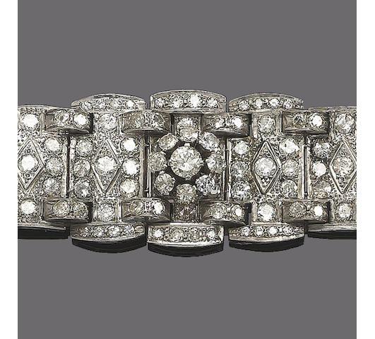 A diamond panel bracelet