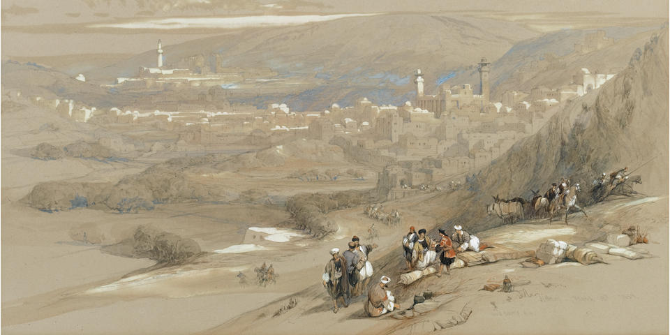 David Roberts, RA (British, 1796-1864) 'Hebron'