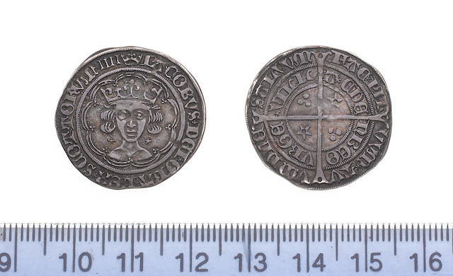 Scotland, James IV, Light coinage (c.1496-1513), Groat, neat facing bust, stars by neck, m.m. crown,