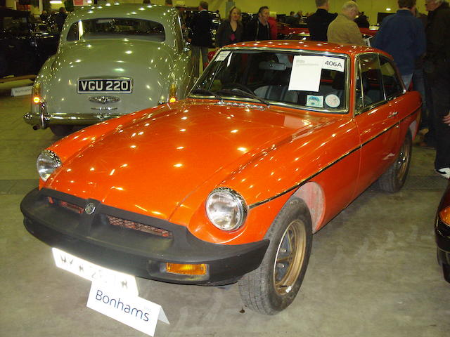 1981 MGB GT Sports Saloon  Chassis no. GVGEJ1AG516839 Engine no. 18V847HO36204