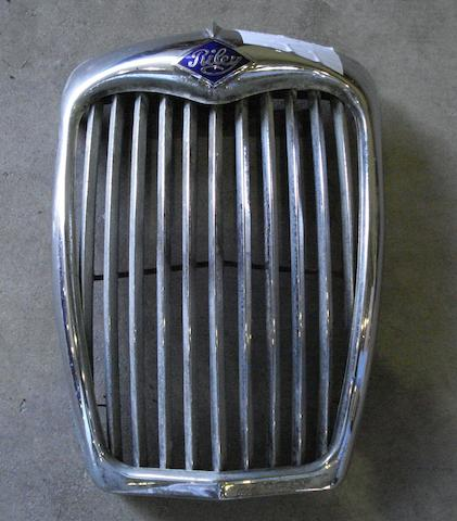 A Riley chrome radiator grille, circa 1960,