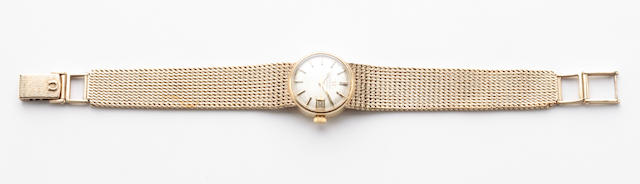 A lady's gold automatic wristwatch, by Omega