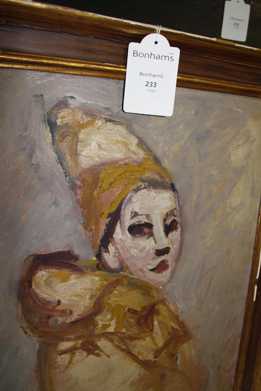 Emilie Charmy (French, 1878-1974) Portrait of a clown