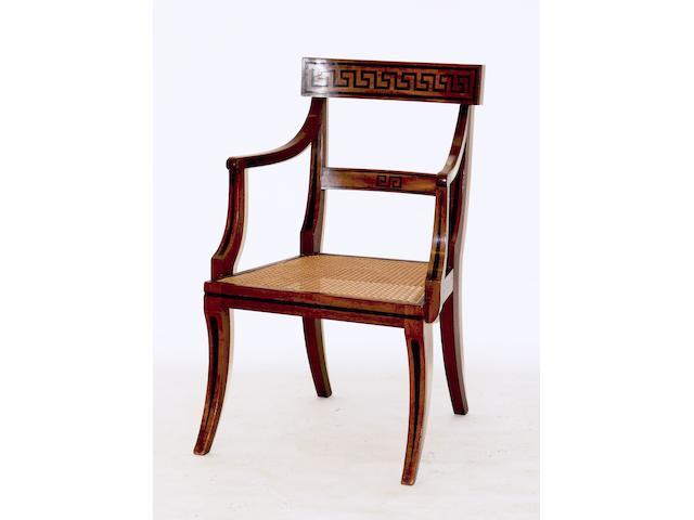 A Regency mahogany armchair,