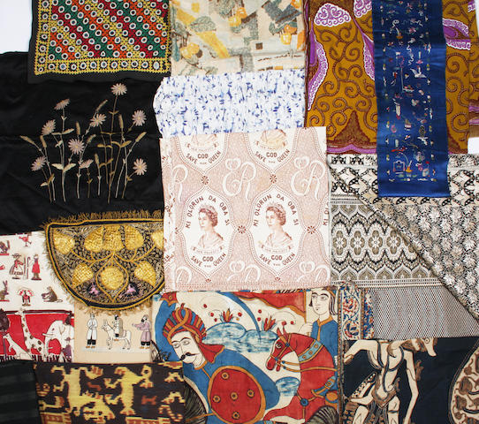 A group of mixed world textiles