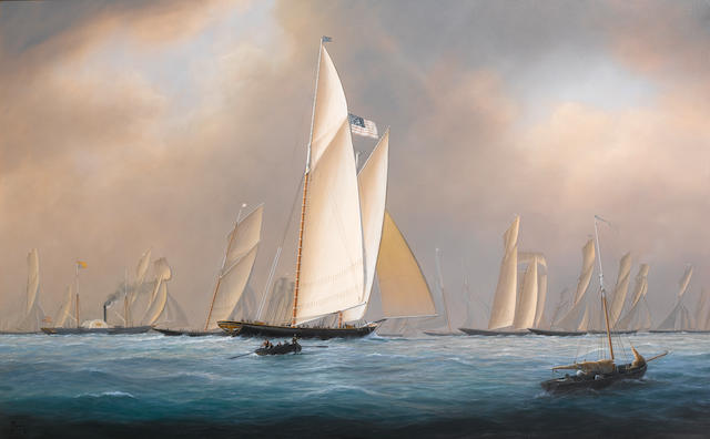 Timothy Franklin Ross Thompson (British, born 1951) America off Ryde