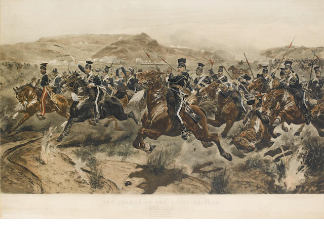 Richard Caton Woodville II (British, 1856-1926) 'The Charge of the Light Brigade'  (image size)