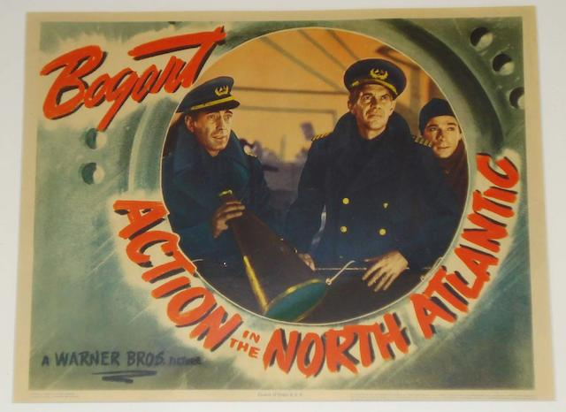 Two Humprey Bogart related U.S. lobby cards, both early 1940's, including: 2
