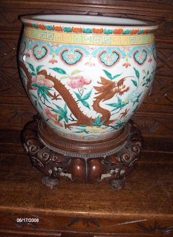 A 19th Century Chinese fish bowl,