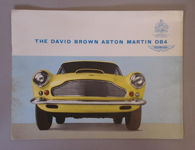 An Aston Martin DB4 Saloon sales brochure,