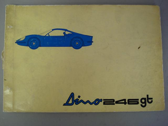 A Ferrari Dino 246GT spare parts catalogue, 1969,