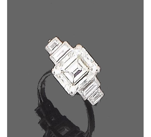 Diamond single stone ring approx 3.70cts