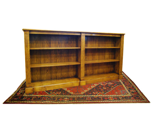 A large oak open bookcase