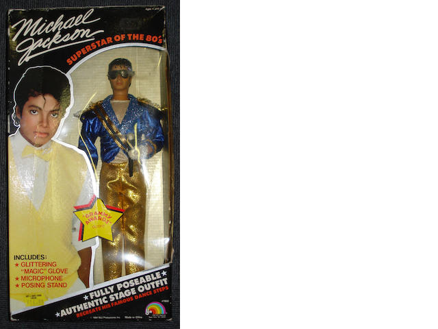 Four Michael Jackson dolls, 'Superstar Of the 80's',