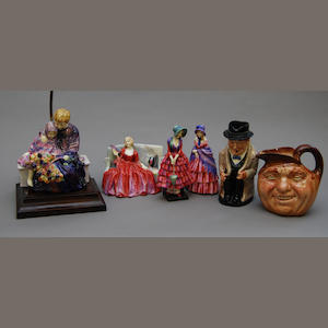 Four Royal Doulton figures