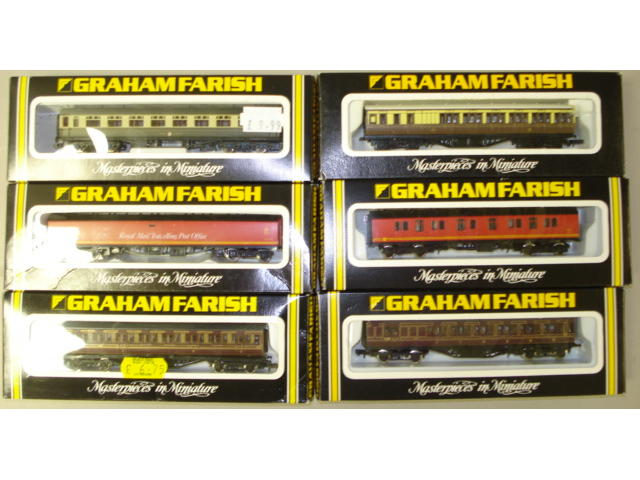 N Gauge passenger coaches and rolling stock approx 300