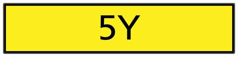 The registration number '5Y',