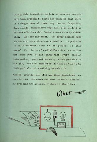 A WWII period Disney animators' manual,