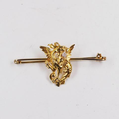 A dragon brooch,