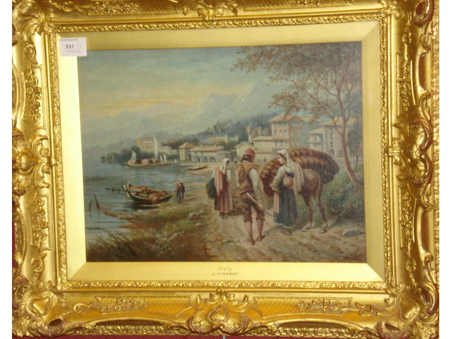 J. Vincent (British, circa 1900) 'Italy', and 'Venice', a pair,