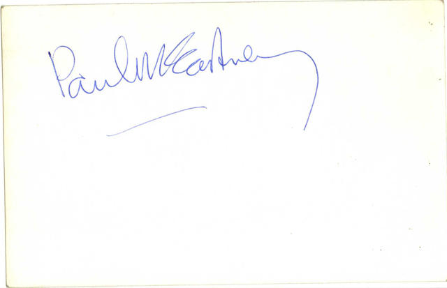 A Beatles publicity photograph autographed by Paul McCartney, 1963,