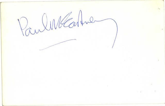 A Beatles publicity photograph autographed by Paul McCartney, 1963,
