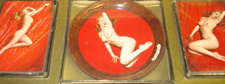 Marilyn Monroe card and coaster set,