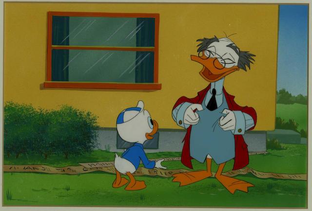 Walt Disney Studios: an original cel from 'Duck Tales', late 1980s,
