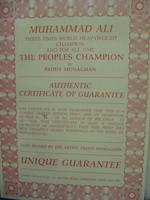 Muhammad Ali: 'The Peoples Champion' hand signed limited edition print