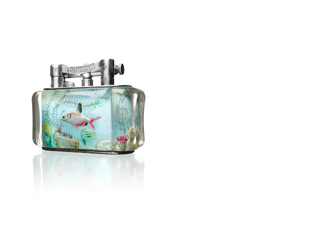 DUNHILL: An Aquarium lighter, in original presentation box,