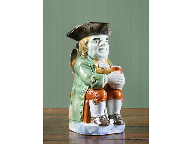 A Wood type Staffordshire Toby jug, circa 1780