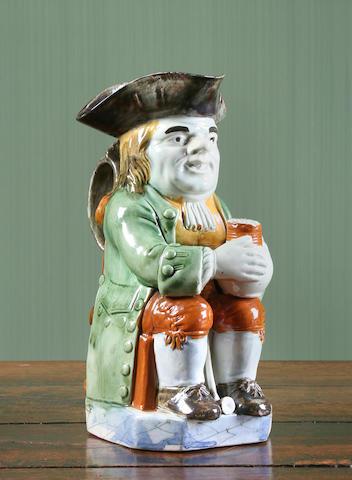 A Wood type Staffordshire Toby jug, circa 1780