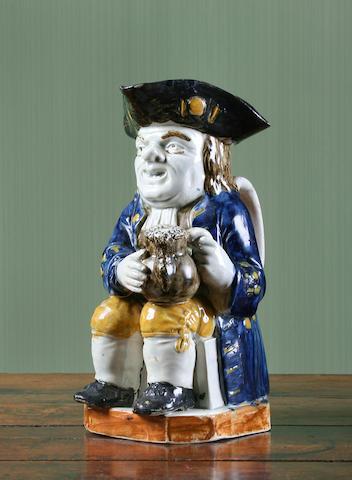 A Wood type Staffordshire Toby jug, circa 1790