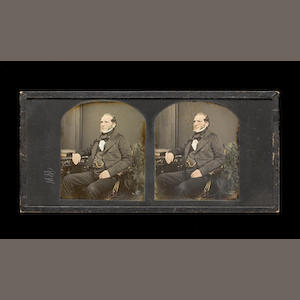 T R Williams, A stereo daguerreotype portrait of a gentleman, 1850s