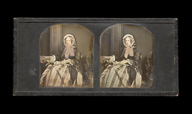 T R Williams, A stereo daguerreotype portrait of a lady, 1850s