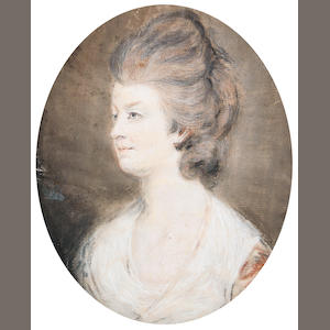 Circle of Hugh Douglas Hamilton (Dublin 1740-1808) Portrait of a Lady, thought to be Lucy Skeffington