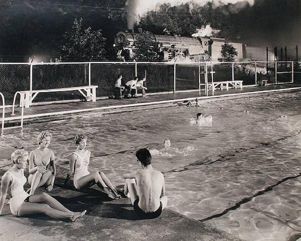 O. Winston Link (American, 1914-2000) Swimming Pool, Welch, West Virginia, 1958