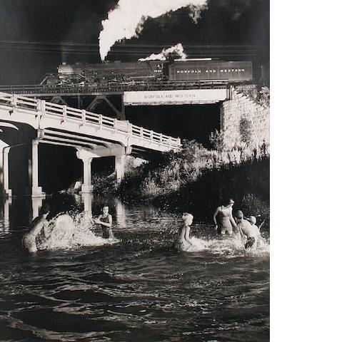 O. Winston Link (American, 1914-2000) Swimming Hole, Hawksbill Creek