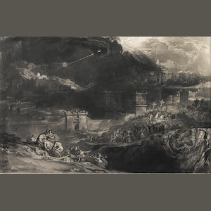 John Martin (British, 1789-1854) The Crucifixion   Sheet size