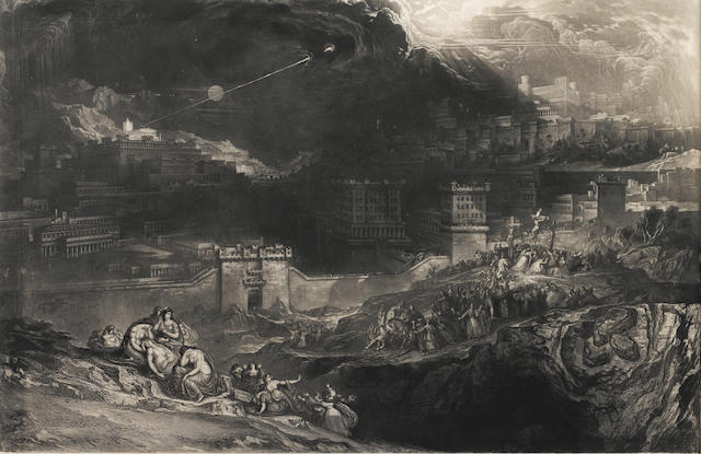 John Martin (British, 1789-1854) The Crucifixion Mezzotint, 1834, from the later edition published by Thomas Boys in 1853, on wove, (Sheet size)