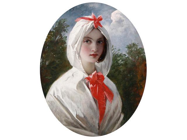 Charles Robert Leslie (American/British, 1794-1859) Head study of Queen Caroline