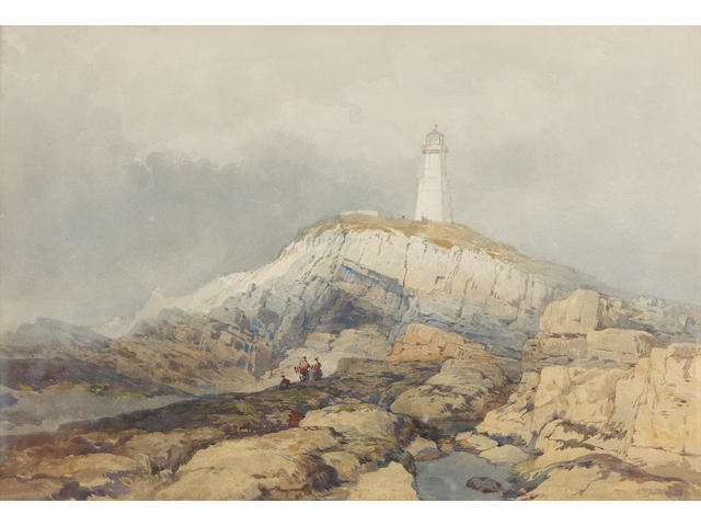 E.  Duncan (British, 19th Century) The Lighthouse