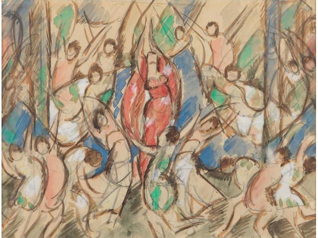 Margaret Morris (British, 1891-1980) Dancers study