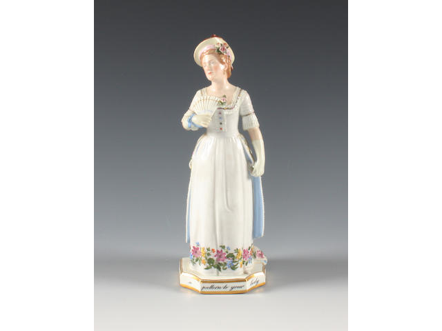 A Meissen figure of Ada Cavendish as Julia in the Hunchback Late 19th century