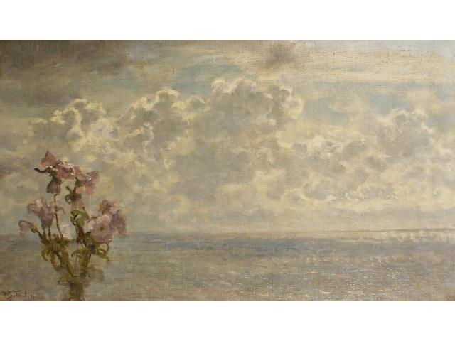 Willem Bastiaan Tholen (Dutch, 1860-1931) 'Wolken en Bloeman'