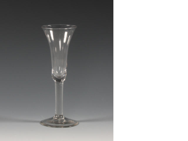 An ale glass Mid 19th Century.