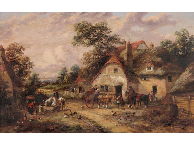 British School, 20th Century A pair of farmyard scenes (2)