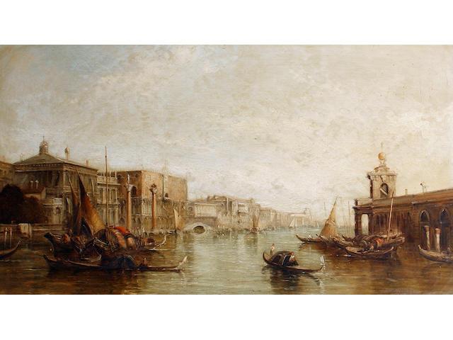 Alfred Pollentine (British, 1836-1890) The Dogana, Venice