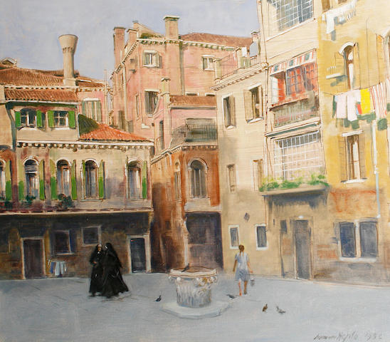 Norman Hepple (British, 1908-1994) Square in Italy